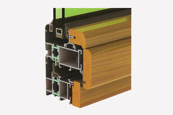MP68 aluminum-wood door windows