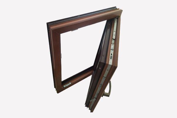 LM68 aluminum composite wood door windows